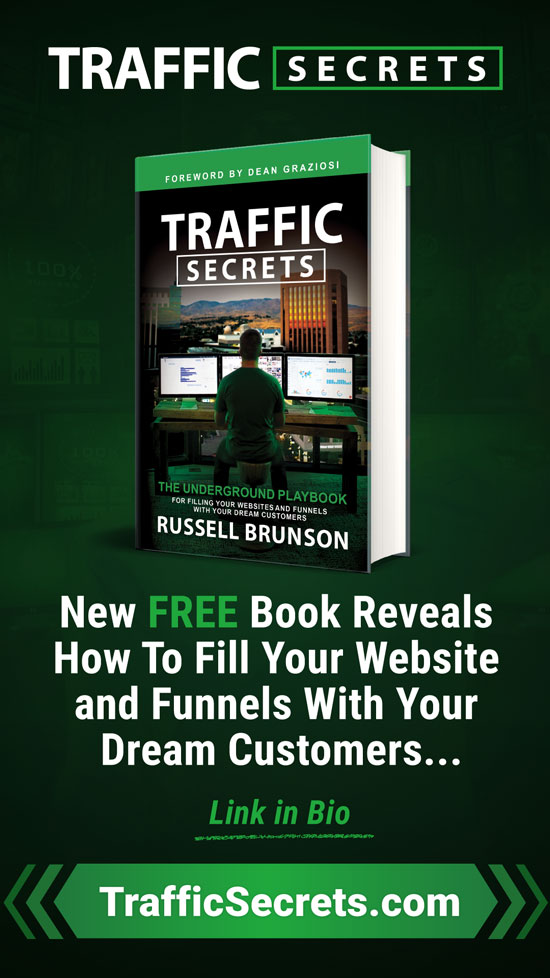 Traffic Secrets Book Ad